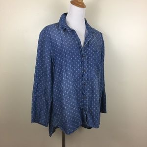 CLOTH & STONE Anthropologie Printed Button Shirt